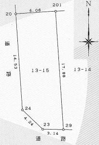 長池 区画図