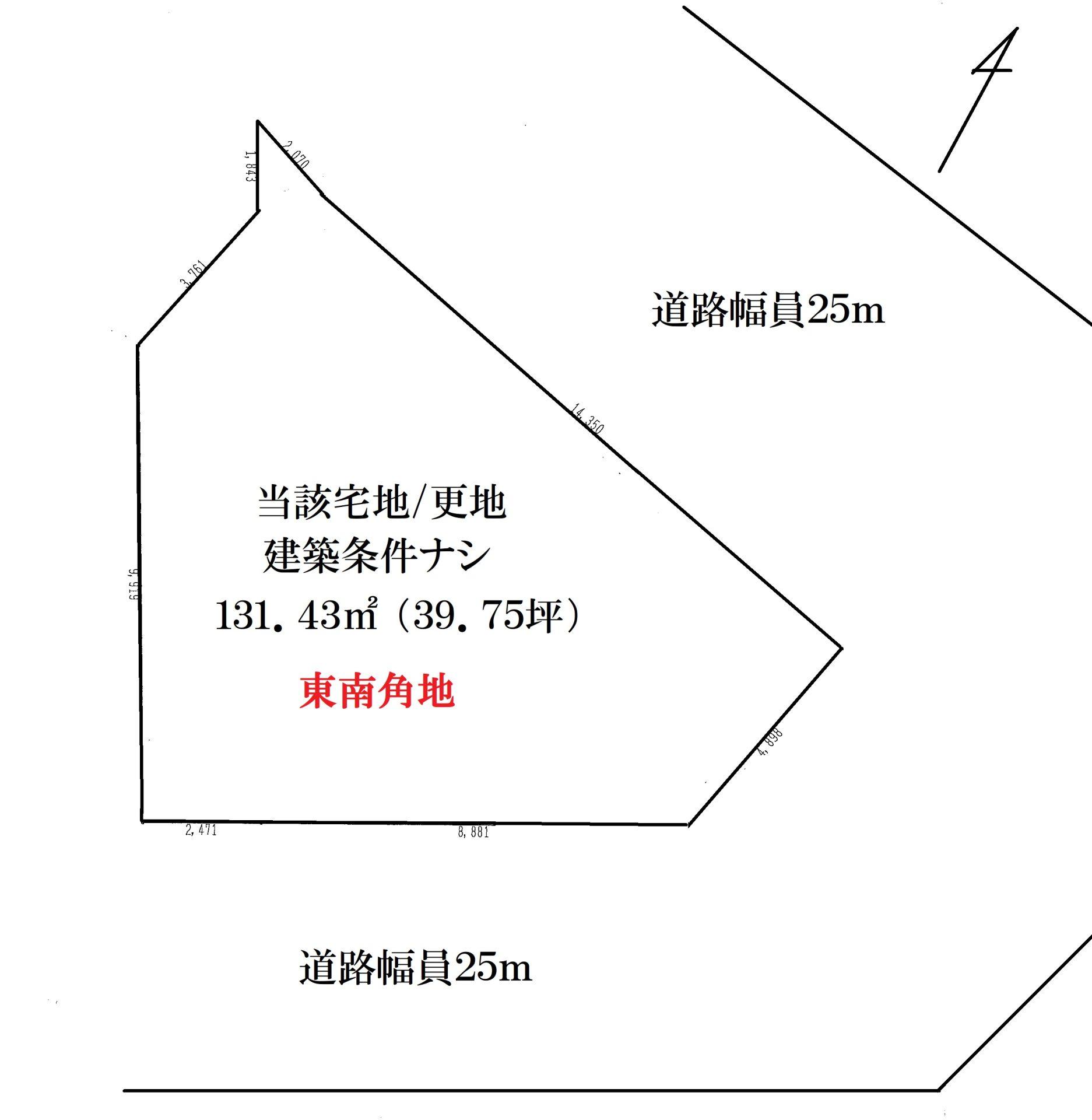北田辺区画図