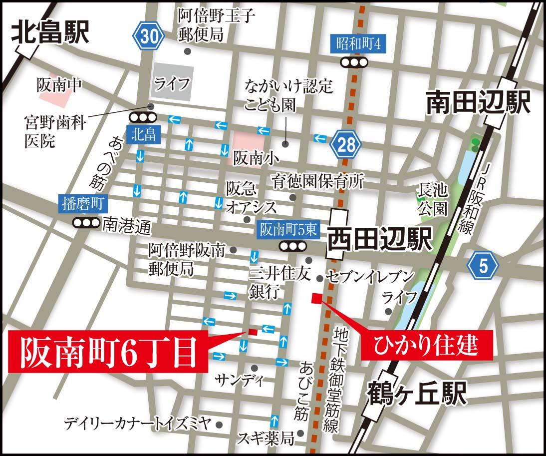 阪南町6丁目地図