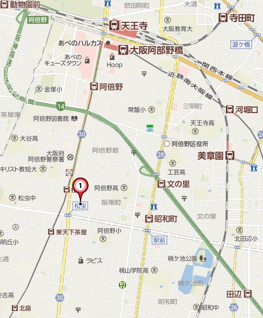 地図 王寺町