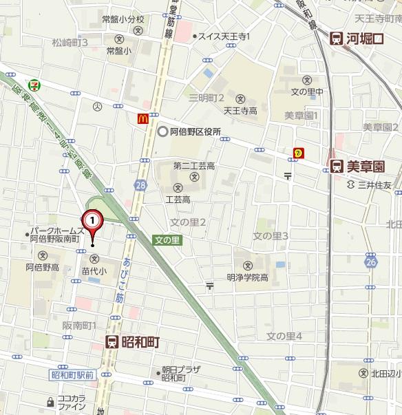 阪南1ヤフー地図
